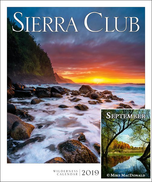 "Mike MacDonald's image ""Passage into Autumn"" represents the month of September in the 2019 Sierra Club Wilderness Wall Calendar."